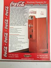 Coca Cola Nostalgic Soda Vending Machine Promo Brochure-Wurlitzer