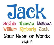 Custom Personalised Name Wall Art Vinyl Sticker Decal Font Style F