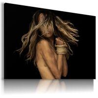 BEAUTIFUL SEXY WOMAN  Modern Canvas Wall Art Picture Large Sizes  BA43 MATAGA .