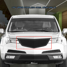 Upper Stainless Replacement Black Mesh Grille Grill For 10-13 Acura MDX