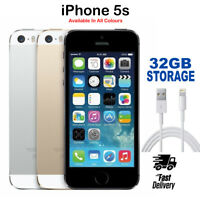 Apple iPhone 5s 16GB 32GB Gold Silver Grey Unlocked Simfree Smart Phone Grade A+