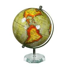 """GLOBE WITH ACRYLIC BASE 11"""" H ~ VINTAGE GLOBE ~ GLOBE WITH METAL STAND ~ MAPS"""