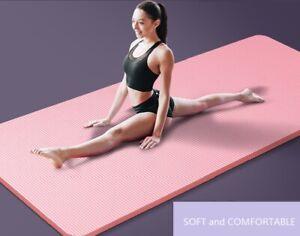 Yoga Mat Exercise Mats High Density Padding Workout Gym Fitness Training Pad 4MM