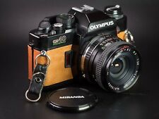 Olympus OM40 SLR / Brown Leather / LightBurn Film Camera / 28mm f2.8 OM Lens