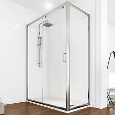 Box doccia 120x80 cristallo traparente cabina doccia scorrevole bagno promozione