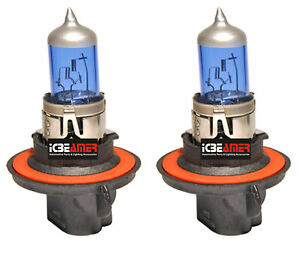 H13 9008 65W Headlight High Low Beam Xenon Super White Replace Halogen Bulb A49
