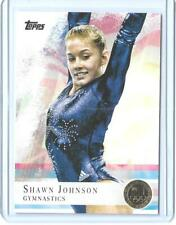 """2012 TOPPS OLYMPIC SHAWN JOHNSON GYMNASTICS """"GOLD"""" PARALLEL CARD #1 ~ MULTIPLES"""