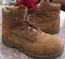 Timberland 6 Inch Boys Premium Wheat Suede Waterproof Boots Sz 5M #27901 Euc