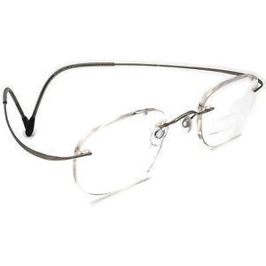 Silhouette Eyeglasses 7305 10 6061 Silver Rimless Metal Frame Austria 47[]21 140