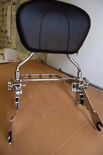 NEW Detachable Backrest Upright w/Flat Luggage Rack for Harley Touring 2009UP