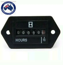 Hour Meter DC  12V 24V 10-80Volts Stationary Engine Gauge Marine Tractor Mower