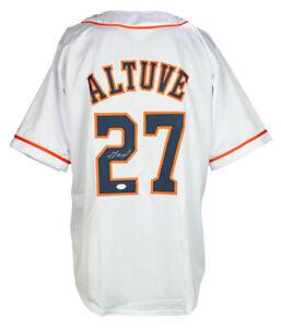 Jose Altuve Signed Custom White Houston Baseball Jersey JSA ITP