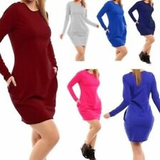 Vestiti da donna tunica rossa di cotone