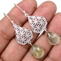 Prehnite 925 Sterling Silver Earrings Jewelry AE100390 123R