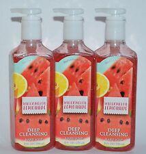 Lot Of 3 Bath & Body Works Watermelon Lemonade Deep Cleansing Hand Soap Wash 8Oz