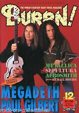 Burrn! Heavy Metal Magazine December 1998 Japan Marty Friedman Mr. Big Anthrax