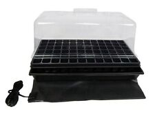Seedling Starter Plant Clone Propagation Tray Cell Insert Heat Mat Kit 11 x 22