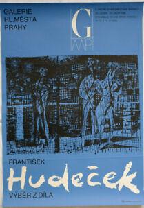 Poster Plakat - Frantisek Hudecek - Galerie Hl. Mesta - Praha 1986