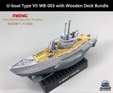 MENG U-boat Type VII Q Edition WB-003 with Wooden Deck Bundle Warship Builder