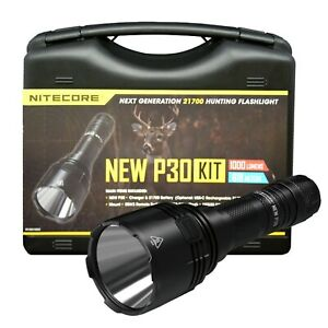Nitecore NEW P30 1000 Lumen LED Hog Varmint Coyote Hunting Light Kit