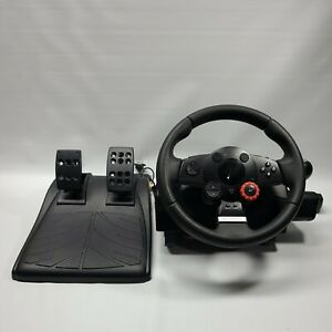 Logitech Driving Force GT E-X5C19 Steering Wheel w/ Pedals Force Feedback Tested