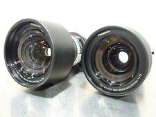 Panasonic ET-DLE100 DLP Projector Zoom Lens Pair XGA 1.3-1.3:1 & 1.8-2.5:1