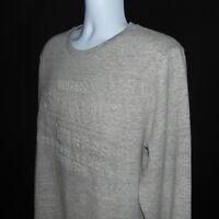 Superdry Gray Crew Neck Sweater Sweatshirt Mens Size 2XL XXL NWOT