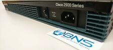 CISCO 2901/K9 with 2xGE 4xEHWIC 2xDSP 1x ISM slot 256MB CF 512MB DRAM ISR Router