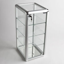 Glass Counter Top Aluminum Frame Locking Jewelry Display Case w/ 3 Shelves ADC-1