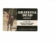 Grateful Dead Backstage Guest Pass HORSE 1/27/1995 Oakland, CA MINT UNUSED