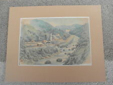 Old Chinese ? Watercolor Painting signed