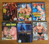 WWF BROCK LESNAR MAGAZINE LOT OF 6 PWI KANE TRISH STRATUS THE ROCK WRESTLEMANIA