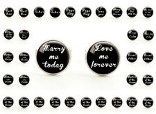 Wedding Cufflinks Best Man Father of Bride Groom Marry Me Love You Page Boy
