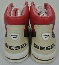 Men's I'm Precision Diesel High Top Shoes White Cream Red Black Size 13 Sneakers