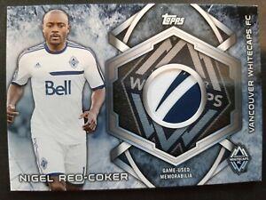 NIGEL REO-COKER 2014 Topps MLS Kits PATCH Soccer Card VANCOUVER WHITECAPS L15