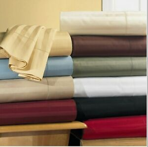 Fabulous Bedding Collection 1000TC Egyptian Cotton Olympic Queen Size All Stripe