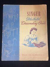 VINTAGE 1941 SINGER SEWING MACHINE CO. ILLUSTRATED DRESSMAKING GUIDE