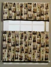 Wine Theme Tier Curtain Set (NO Valance) VINO with French Expressions 57 x 36