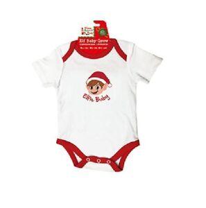 Christmas Baby Grow - Santa's Elves Baby Clothing - Elfie Baby Playsuit