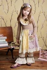 Easter Mustard Pie Scrappy Ramona Dress in Rainbow Script Kashmir Pants Band 4
