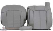 1999-2002 GMC Sierra 1500HD 2500HD SLT -Driver COMPLETE LEATHER Seat Cover GRAY