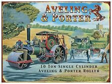 Steam Traction Engine Aveling & Porter Roller Vintage Medium Metal/Tin Sign