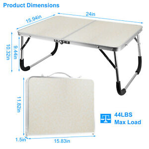 Small Folding Table Portable Foldable Table Lightweight Aluminum Camping Table
