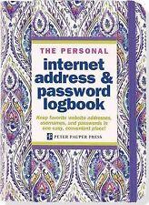 NEW Silk Road Internet Address & Password Logbook by Peter Pauper Press