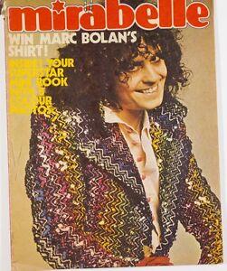 Marc Bolan Biba David Cassidy Osmonds Andy David Williams MIRABELLE MAGAZINE vtg