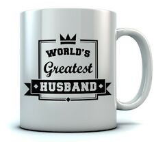 World's Greatest Husband Coffee Mug - Valentine's Gift For Couples Ceramic Mug
