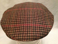 MENS QUALITY TRADITIONAL NEWSBOY FLAT CAP COUNTY TWEED SOFT WOOL MADE IN ENGLAND