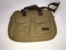 13b Bella Russo Canvas Leather Tan  carrying bag