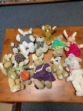 Boyds Bears Plush Bunnies & Bears - Hannah, Willikers, Marigold, Dolly Lot Of 11