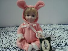 Geppeddo Doll in Bunny Suit #08B261 Porcelain with hanging tag